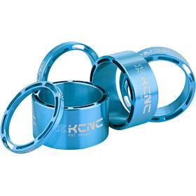 """KCNC Hollow Design Espaciador Dirección 1 1/8"""" 3/5/10/14/20mm, azul"""